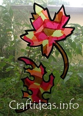 Craft Ideas Leaves on Fall Craft For Kids   Paper Autumn Leaves Window Decorations Jpg