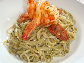 tiger prawn pesto