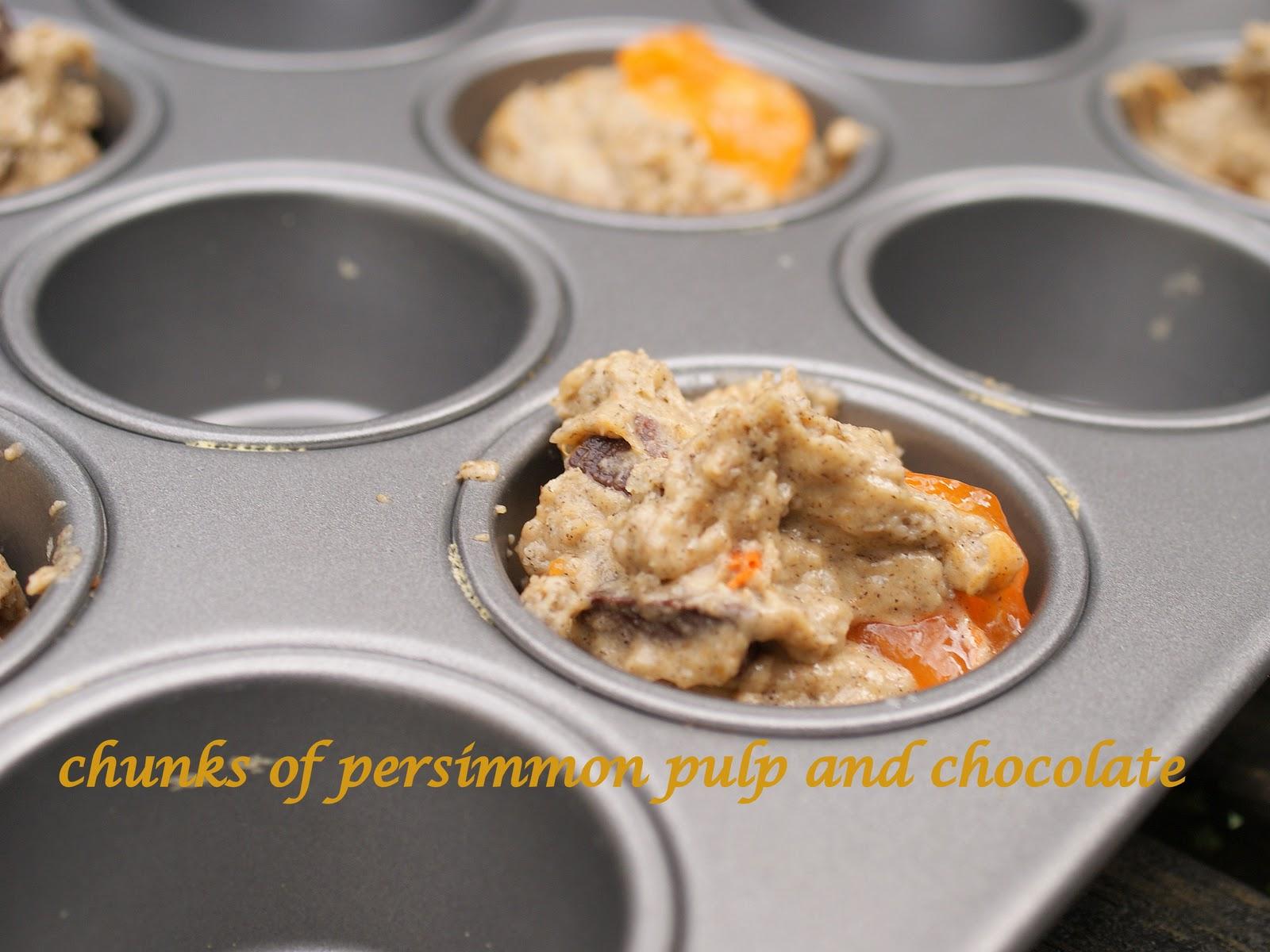 Chocolate Persimmon Muffin Recipe