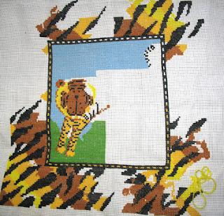тигр, вышивка