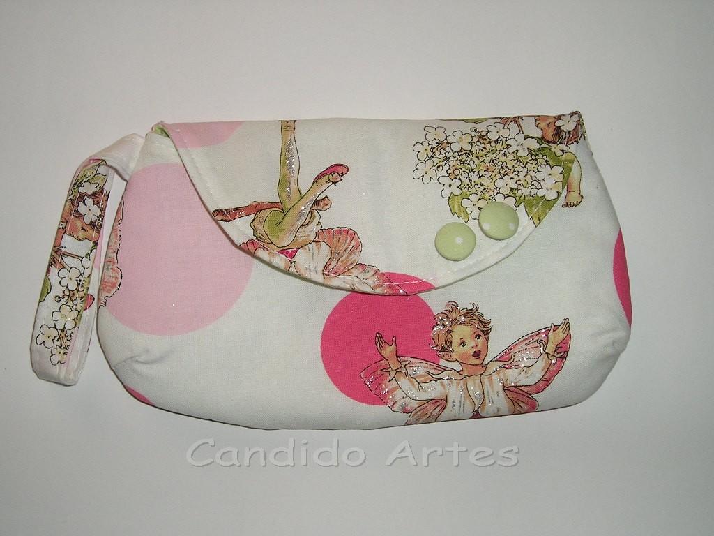 Bolsa De Tecido Quiltada : Artesanato candido artes bolsa n?cessaire tecido fadas