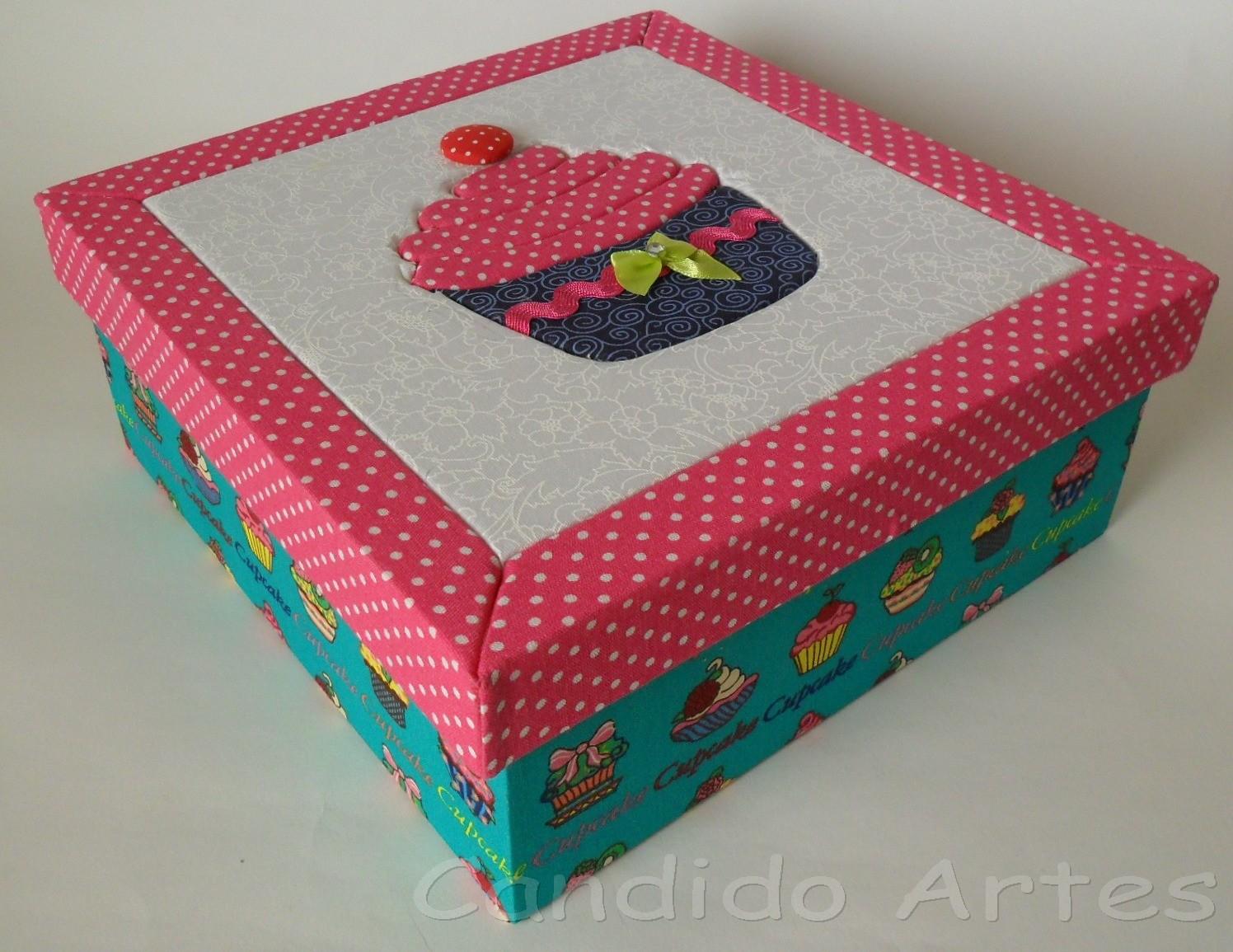 Linda caixa artesanal em MDF toda forrada em tecido 100% algodão a  #147B79 1496x1155
