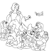 Desenho - Branca de Neve e os sete Anões - Colorir