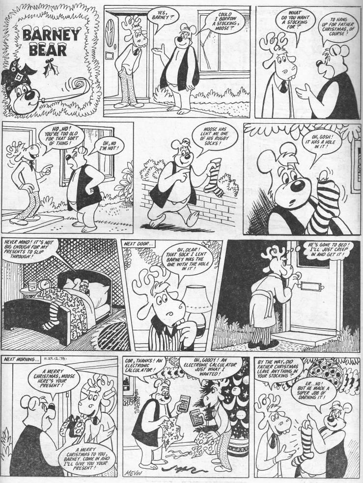 barney bear 1254 29th december 1978 artist bill mevin
