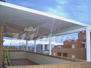 Yo quiero un ittalum techo panel autoportante - Cubrir terraza atico ...