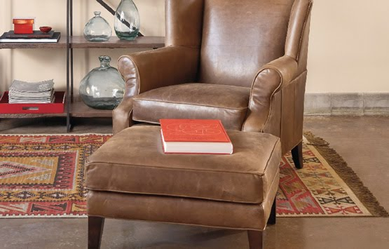 spencer distressed leather armchair sundance