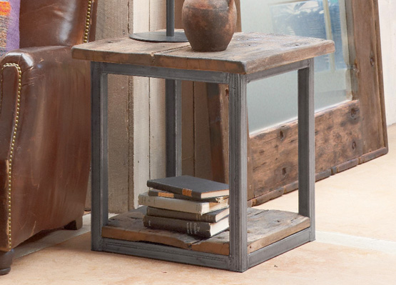 tugboat steel side table sundance