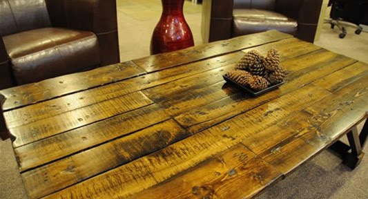 wooden pallet coffee table top