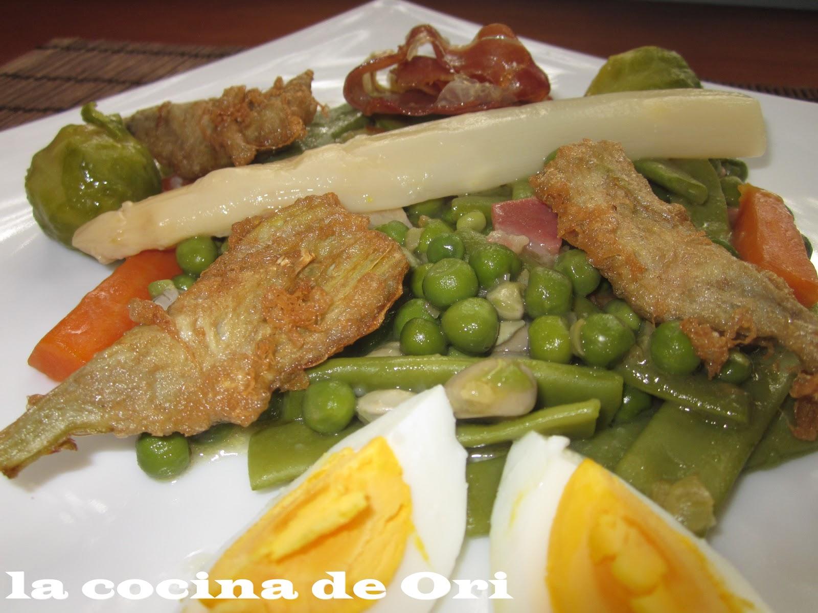 La cocina de ori menestra de verdura a la navarra - Menestra de verduras en texturas ...