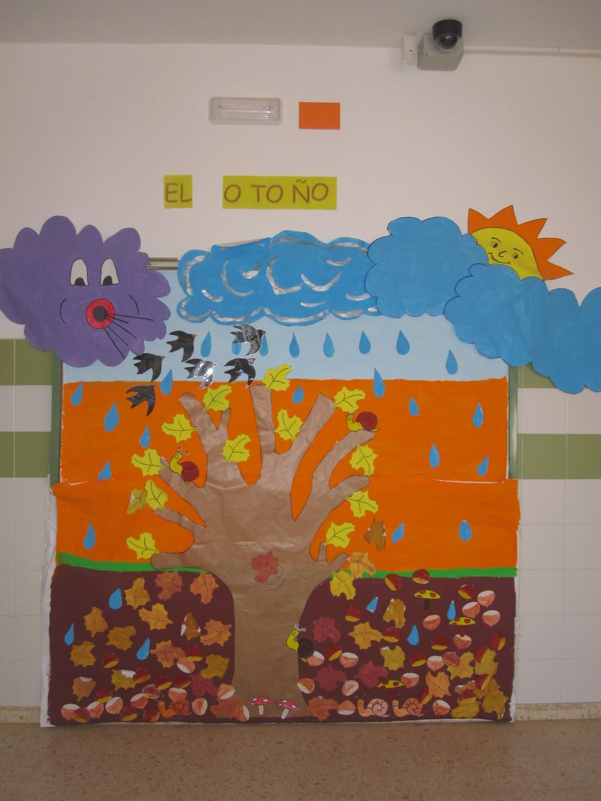 Mi mundo de colores educaci n infantil mural del oto o - Mural pared infantil ...