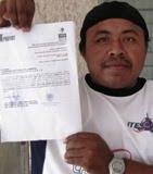 Amparados ante Conciliaci+on y Arbitraje obreros de Siderúrgica de Yucatán en Merida. 26ene11.