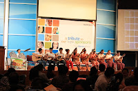 Sponsored kids playing a Rondalla