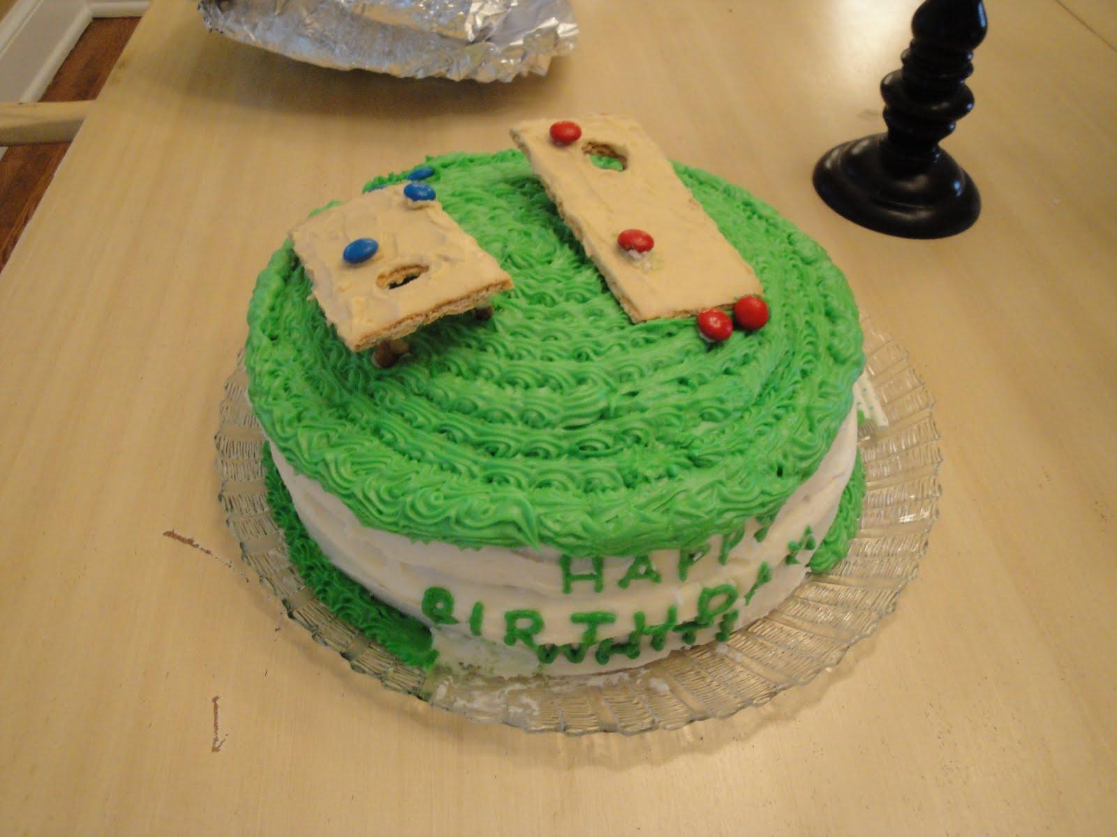 Honeydew You Love Me Cornhole In One Cake