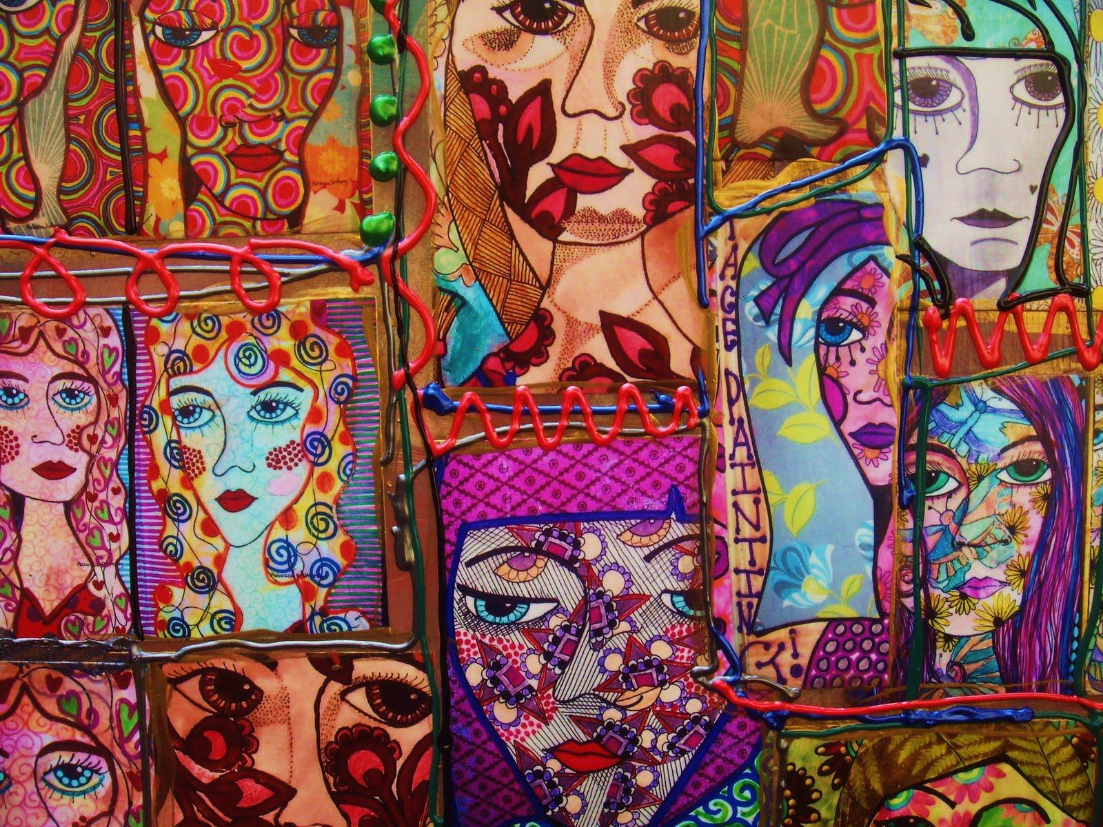 Sketchbook Cover Collage : Daisydolls gypsy caravan quot sketchbook collage