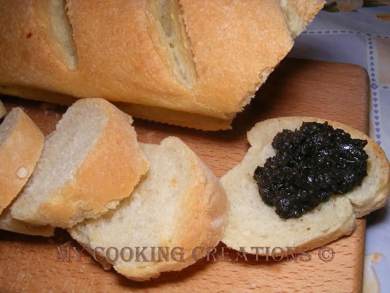Filone di pane  con semola e olio di oliva * Багети с грис и зехтин