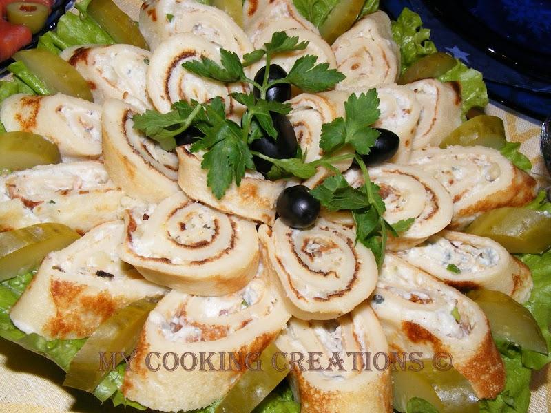 Frittelle con pollo e maionese * Палачинки с пиле и майонеза