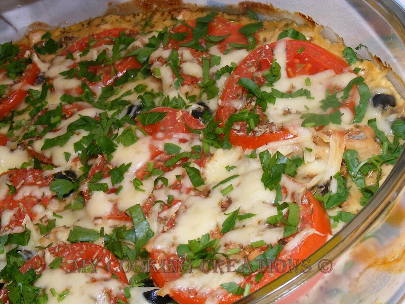 Pollo con olive e pomodori * Пиле с маслини и домати