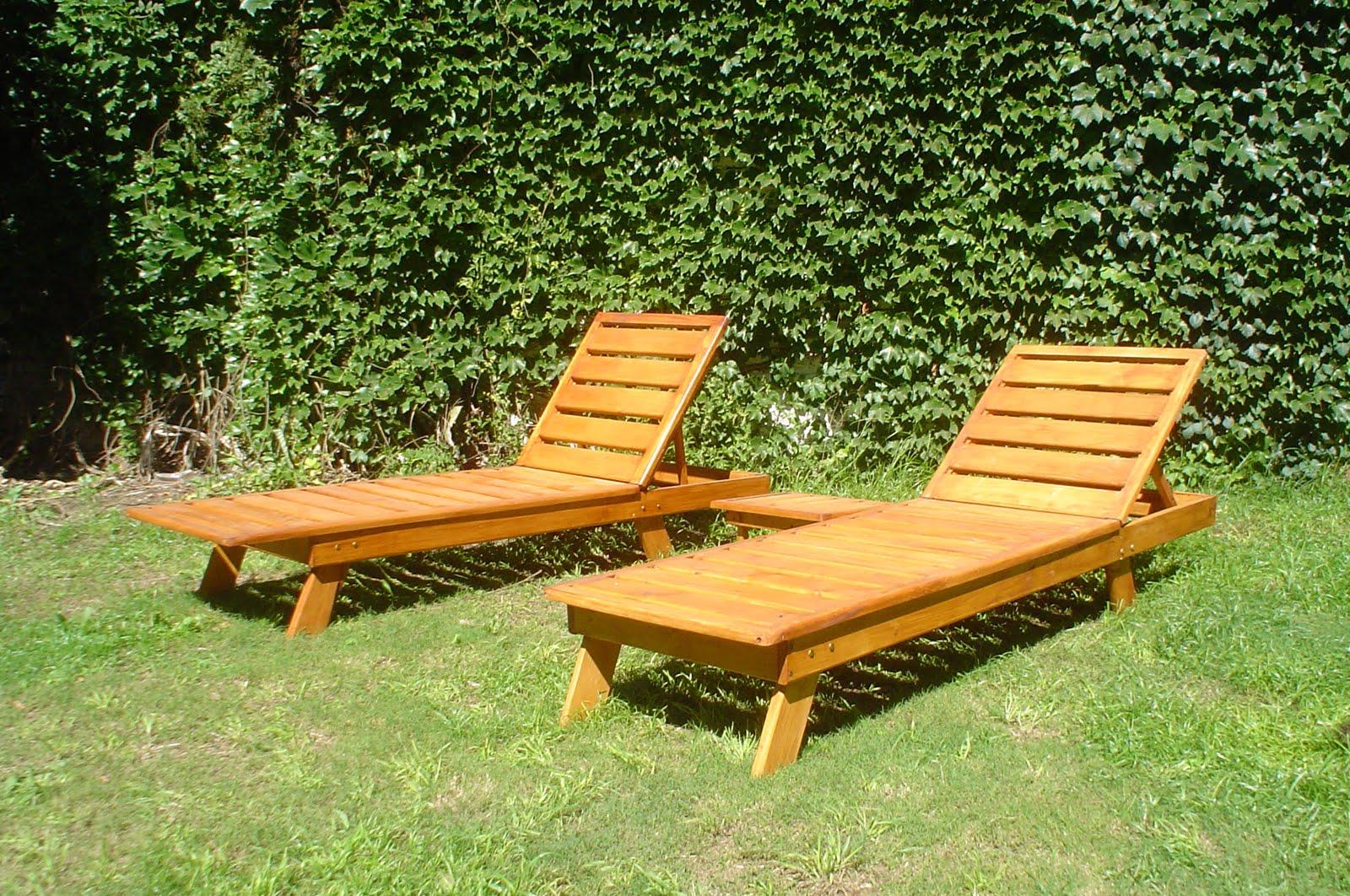 muebles noruega reposera de madera para jardin