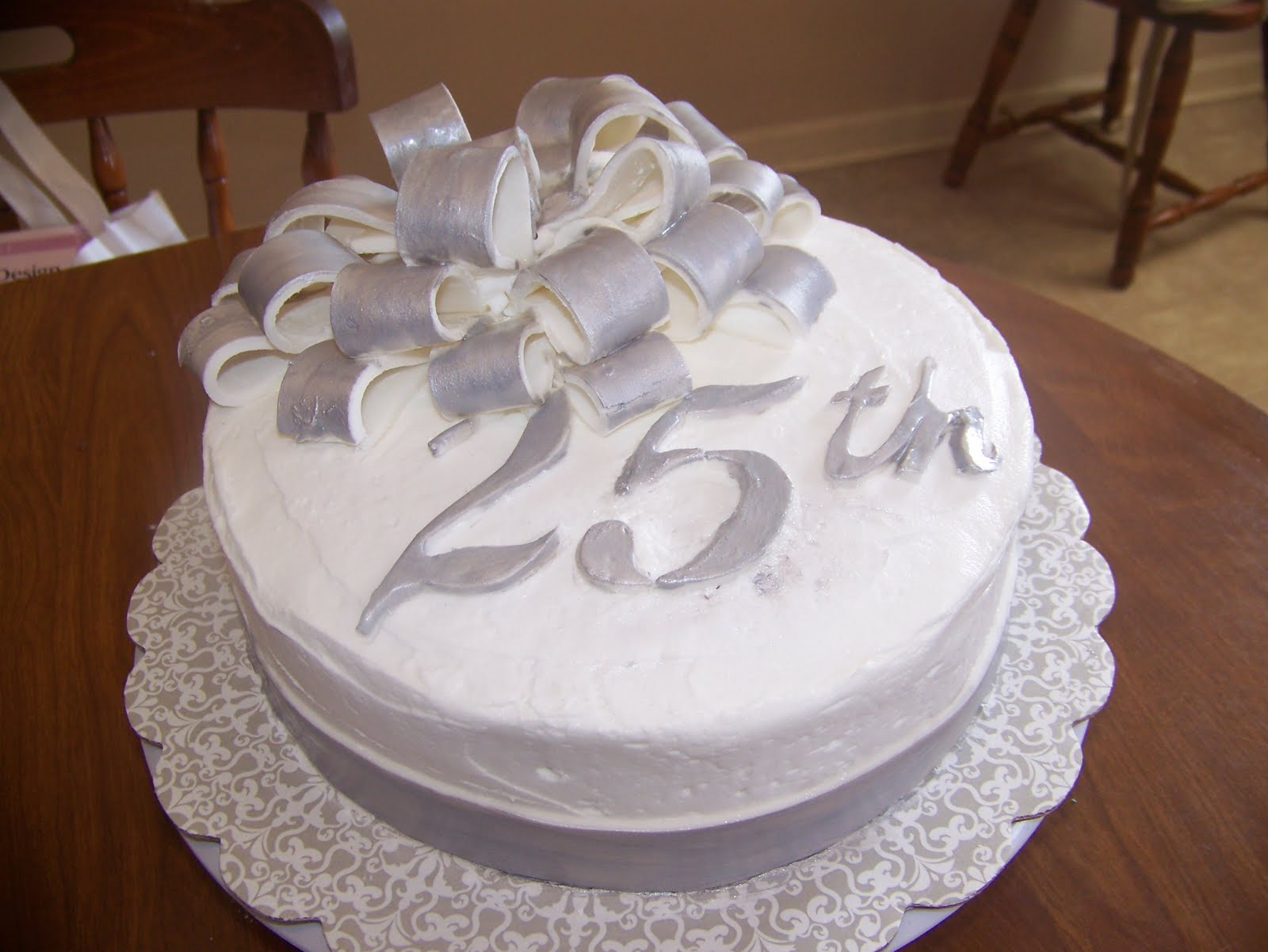 Art Works by Brita Brigmon 25th Wedding Anniversary Cake