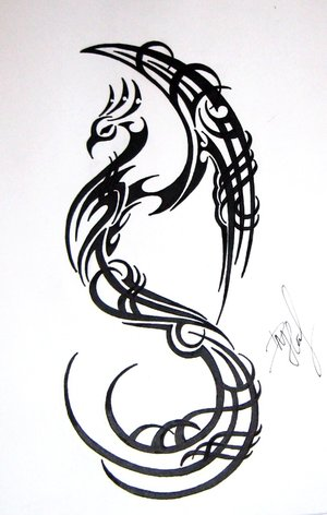 tribal tattoo dragon. Tribal Tattoo Art