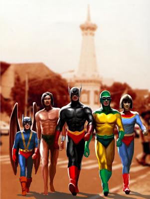 Evolusi 7 Super Hero Indonesia