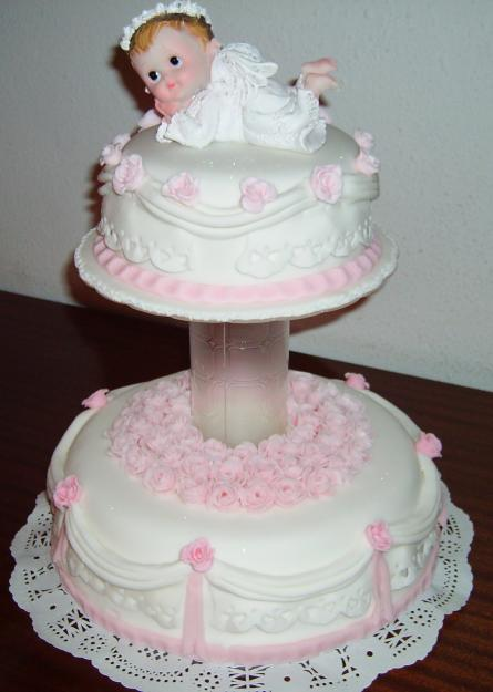 Modelos de torta para bautizo niña - Imagui
