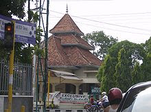 A typical Javanese mosque with Meru-like roof (Masjid Sholihin in Surakarta)