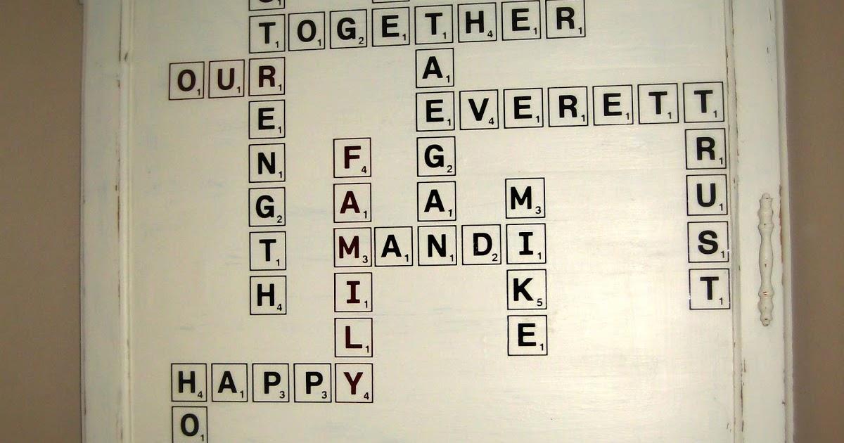 Stikmup Designs Scrabble Family Collage