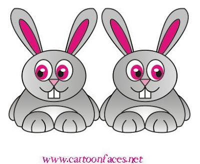 Cartoon rabbit face - photo#27