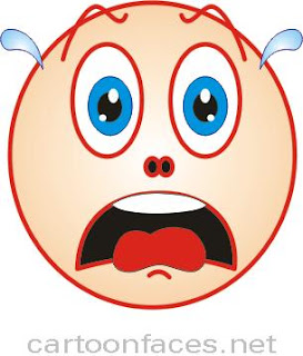 scared cartoon face expression