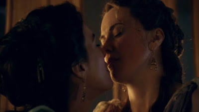 Lucy Lawless and Jaime Murray Lesbian Kiss, Spartacus Gods of the Arena Watch Online lesmedia