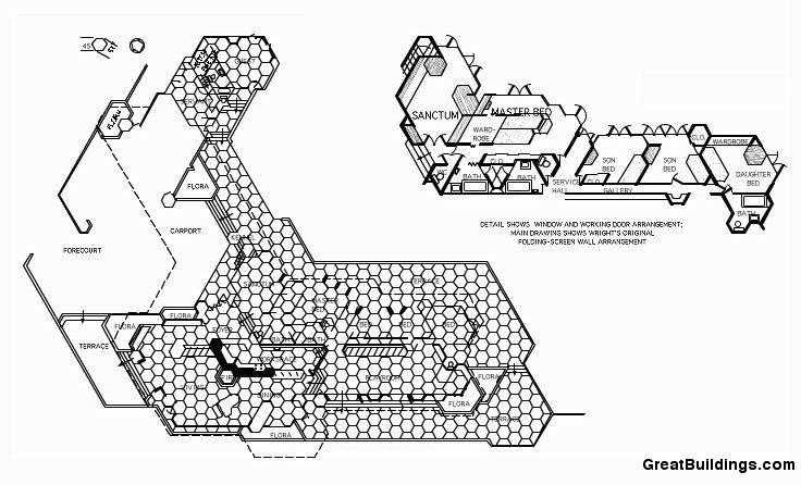 Iala0910envido1009 ejemplos de casas usonianas for Honeycomb house floor plan