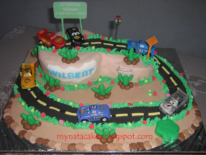 Mynata Cakes: Cars Birthday Cake for Wilbert