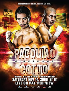 pacquiao vs cotto poster