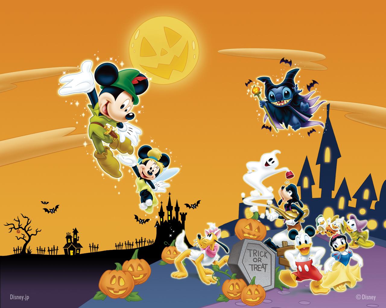Disney Halloween Wallpaper Disney 8528096 1280 1024