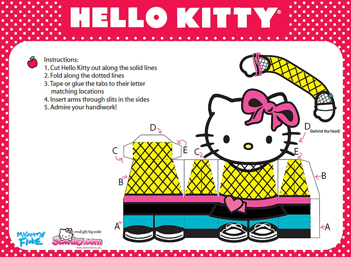 hello kitty paper Free hello kitty party ideas including birthday invitations, food & drink ideas and styling and decoration tips.