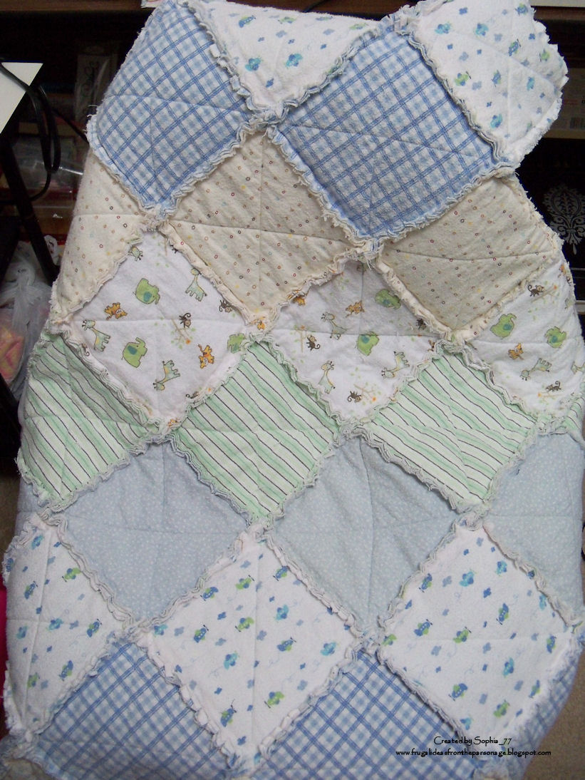 Homemade Gift: Upcycled Receiving Blankets to Baby Quilt ...