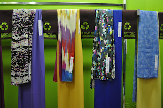 Eco fabrics - recycled polyester - as seen at Texworld Feb. 2010 in Paris. Photo by Lucia Carpio.