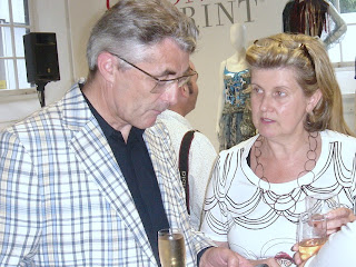 Barbara Kennington, seen here at Texprint FirstView with Eric Musgrave, the Director-General of UK Fashion and Textile Association Ltd. Photo by Lucia Carpio.