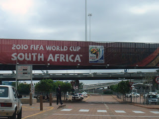 Fifa banner in Cape Town, South Africa. Photo by Lucia Carpio