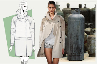 New evolving silhouettes for 2011 according to WGSN, includes the new Dome shape of the classic trench coat.