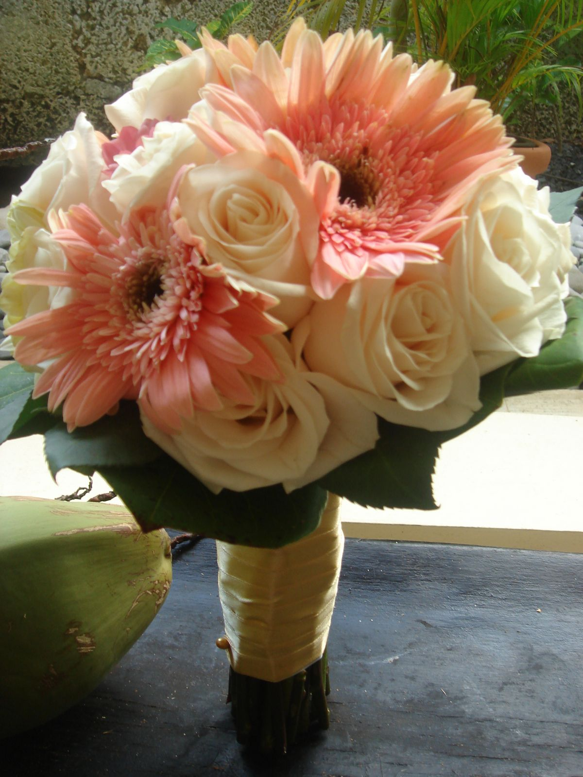 Bouquet Bridal Pink Gerbera And Rose Wedding Bouquet