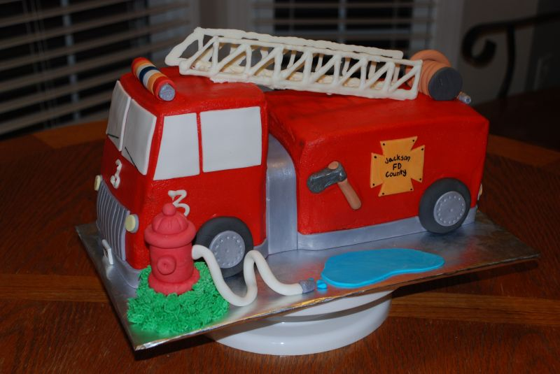 Birthday Cake: Fire Truck Birthday Cakes