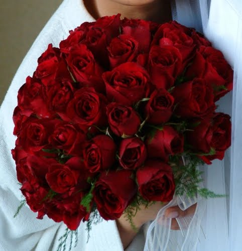 Red Roses Bridal Bouquets
