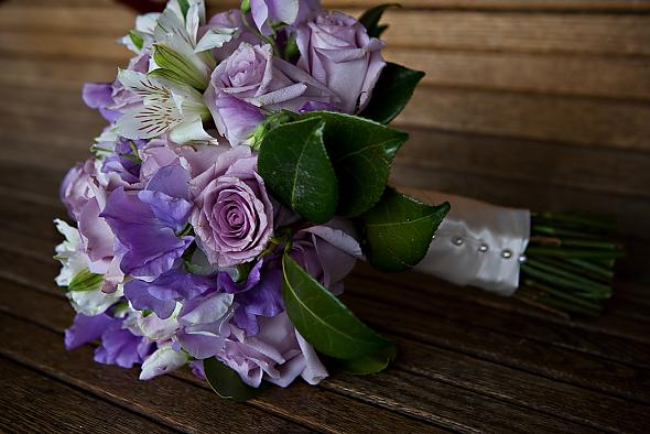 Lavender/Purple Wedding Bouquet - Mini Callas