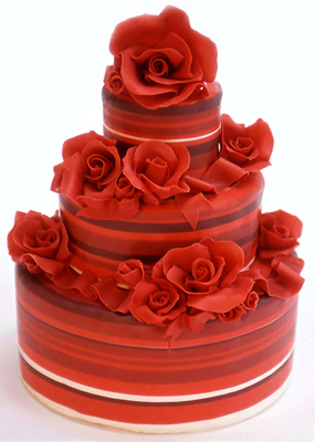 wedding cakes pictures red wedding cakes pictures. Black Bedroom Furniture Sets. Home Design Ideas