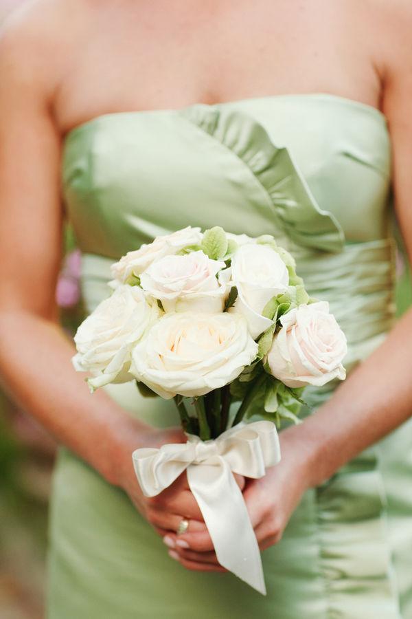 Bridesmaids gowns light pastel green bridesmaid dresses for Light green wedding dress