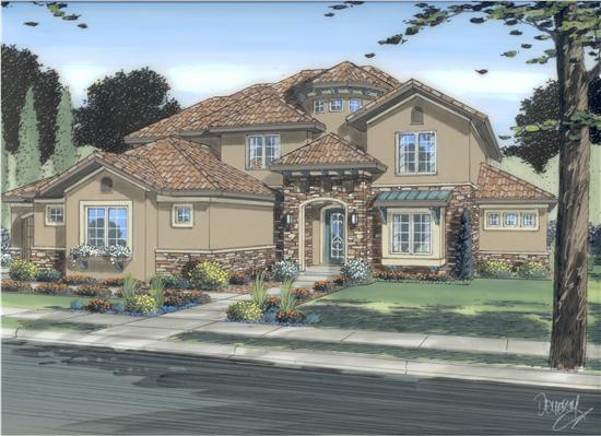 Home Plan Collection Of 2015 Tuscan House Plans