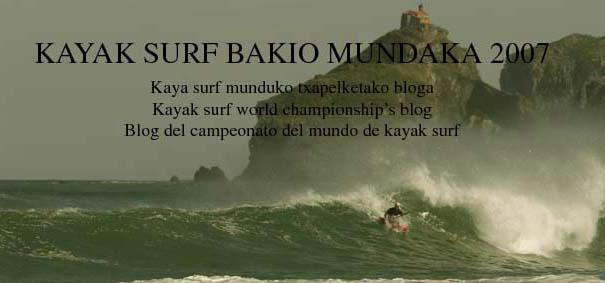 kayak surf Bakio Mundaka  2007