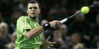 Jo-Wilfried Tsonga at the Paris Masters